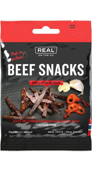 Real Turmat Beef Snacks Chili & Garlic 25g